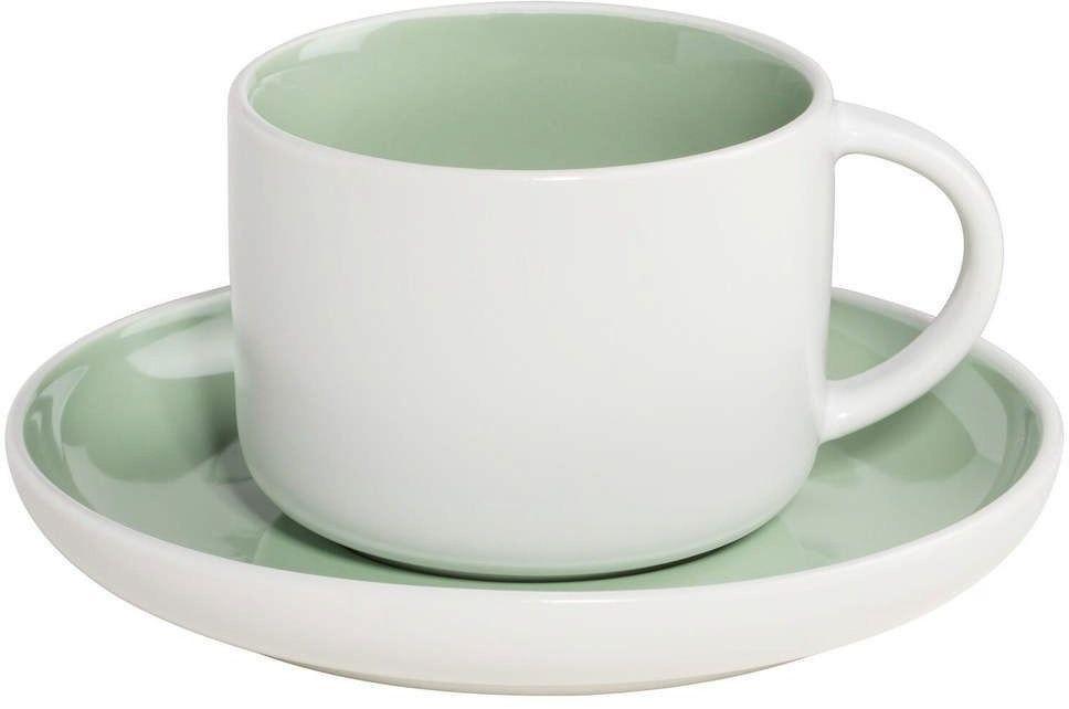 Maxwell & williams - tint - filiżanka do kawy, biało-zielona