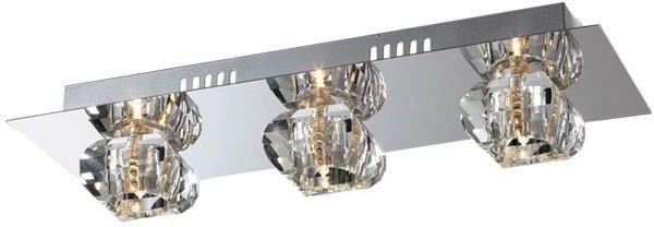 Lampex Denver 3 166/3 plafon lampa sufitowa chrom nowoczesna szklane klosze 3x40W G9 45cm