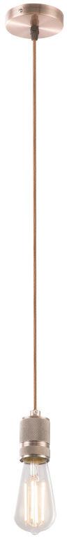 Globo OLIVER A22 lampa wisząca miedź antyczna-antracyt 1xE27 10cm