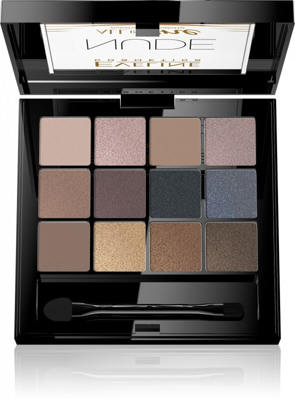 EVELINE - All In One Eyeshadow Palette - Paleta 12 cieni do powiek - 01 NUDE