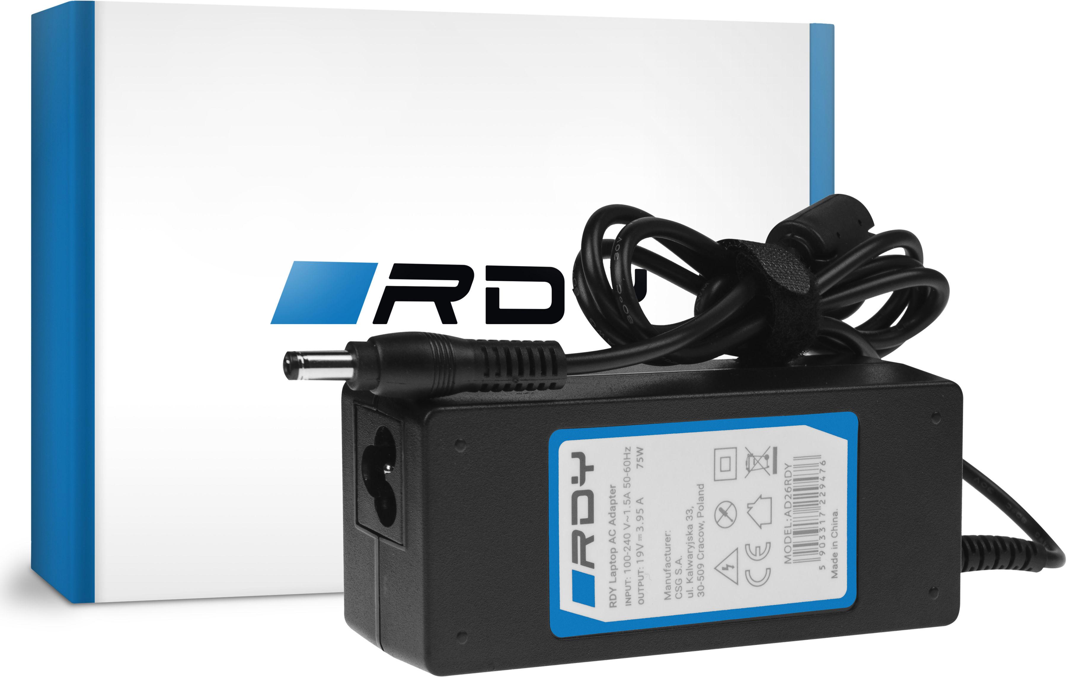 Zasilacz Ładowarka RDY 19V 3.95A 75W do Toshiba Satellite C55 C660 C850 C855 C870 L650 L650D L655 L750 L750D L755