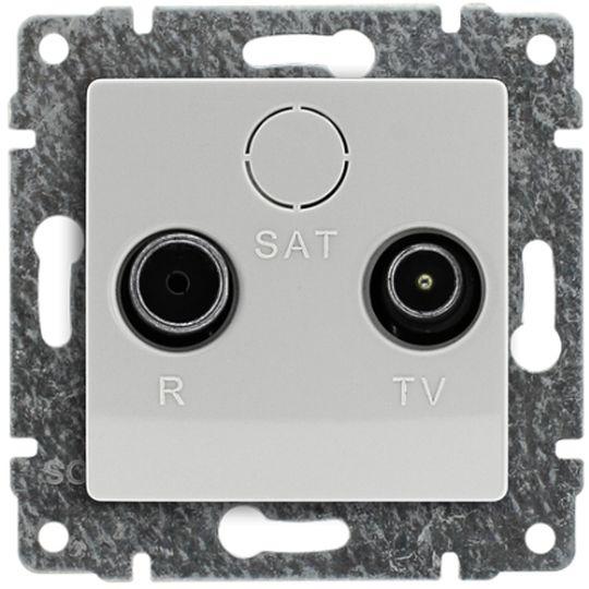 VENA Gniazdo antenowe RTV końcowe białe 510473