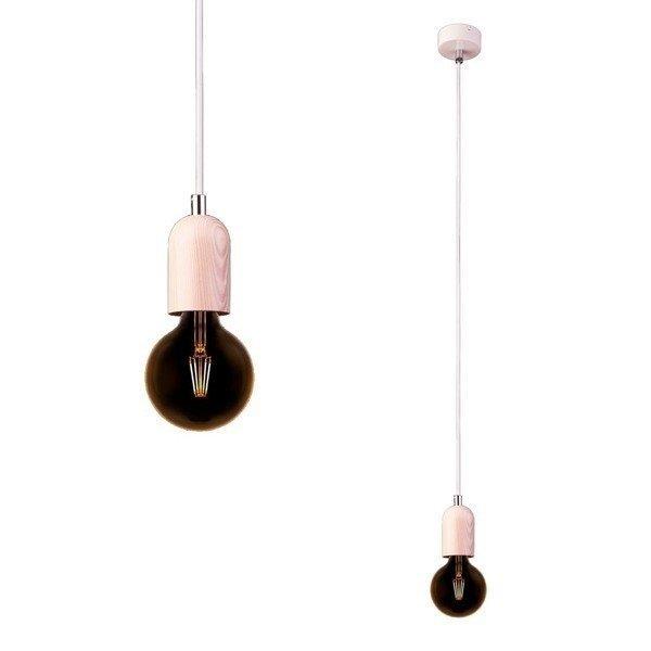 Lampa kabel z drewnianą oprawką TULUM WOOD E27 9690 + RABAT w koszyku za ilość !!!