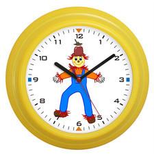 Zegar naścienny kolor strach na wróble