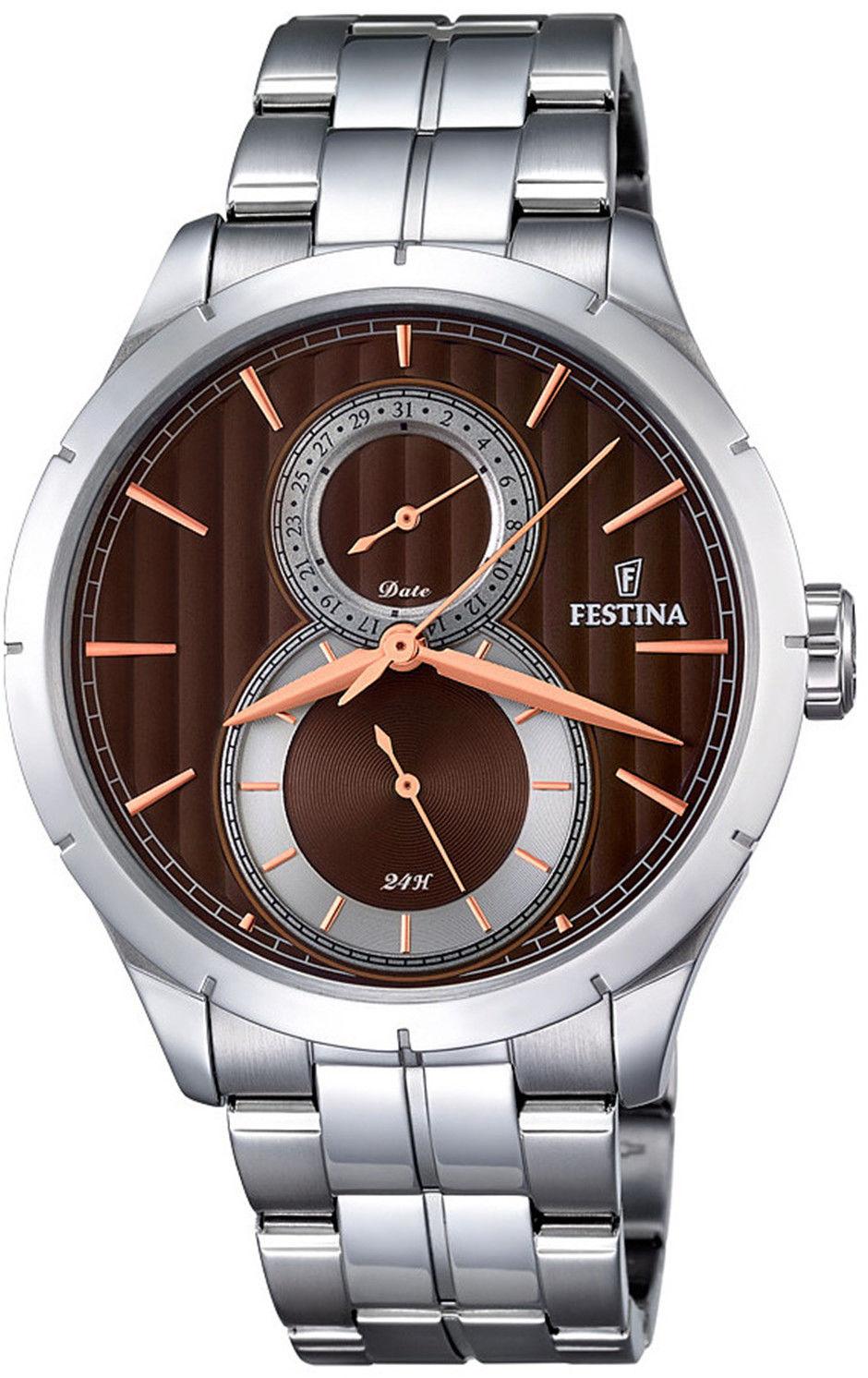 Zegarek Festina F16891-5 Retro Multifunction - CENA DO NEGOCJACJI - DOSTAWA DHL GRATIS, KUPUJ BEZ RYZYKA - 100 dni na zwrot, możliwość wygrawerowania dowolnego tekstu.