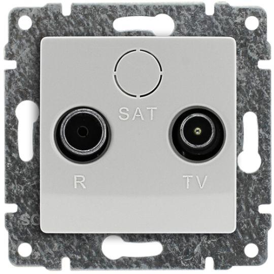 VENA Gniazdo antenowe RTV przelotowe 8dB białe 510474