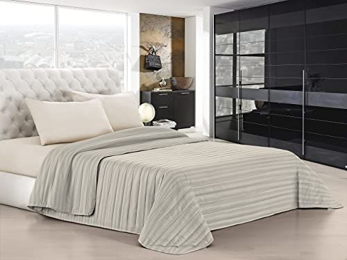 Italian Bed Linen Satynowa letnia kołdra, poliester, szary gołąb, 170 x 250 cm