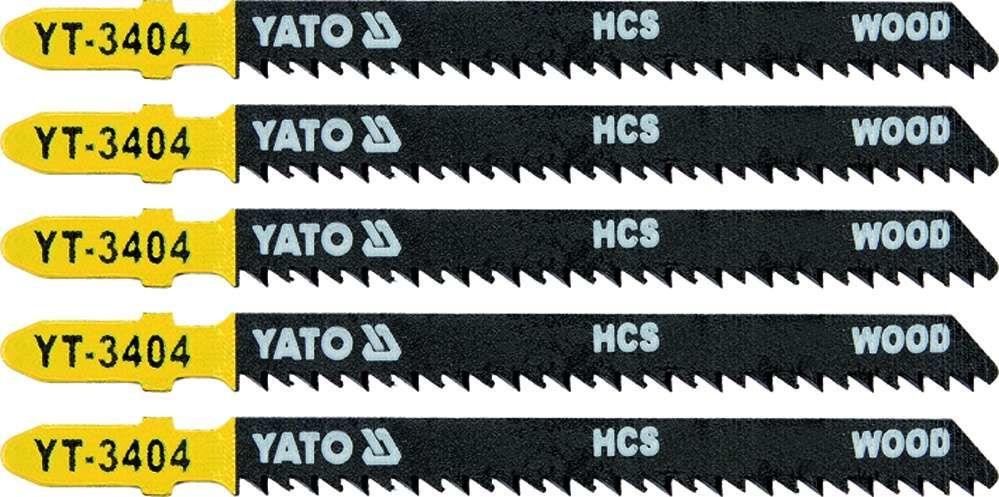 Brzeszczot do wyrzynarki typ t, 10 tpi, do drewna, 5 szt Yato YT-3404 - ZYSKAJ RABAT 30 ZŁ