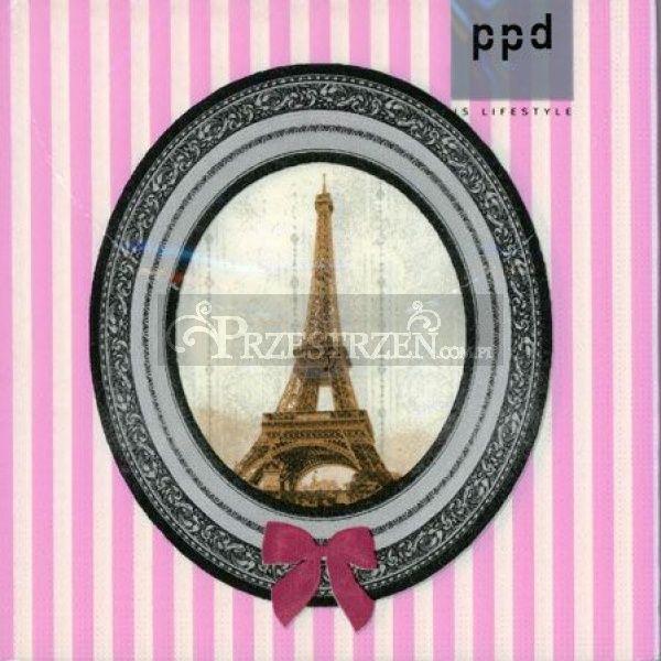 SERWETKI PAPIEROWE - Paris Deluxe - pink