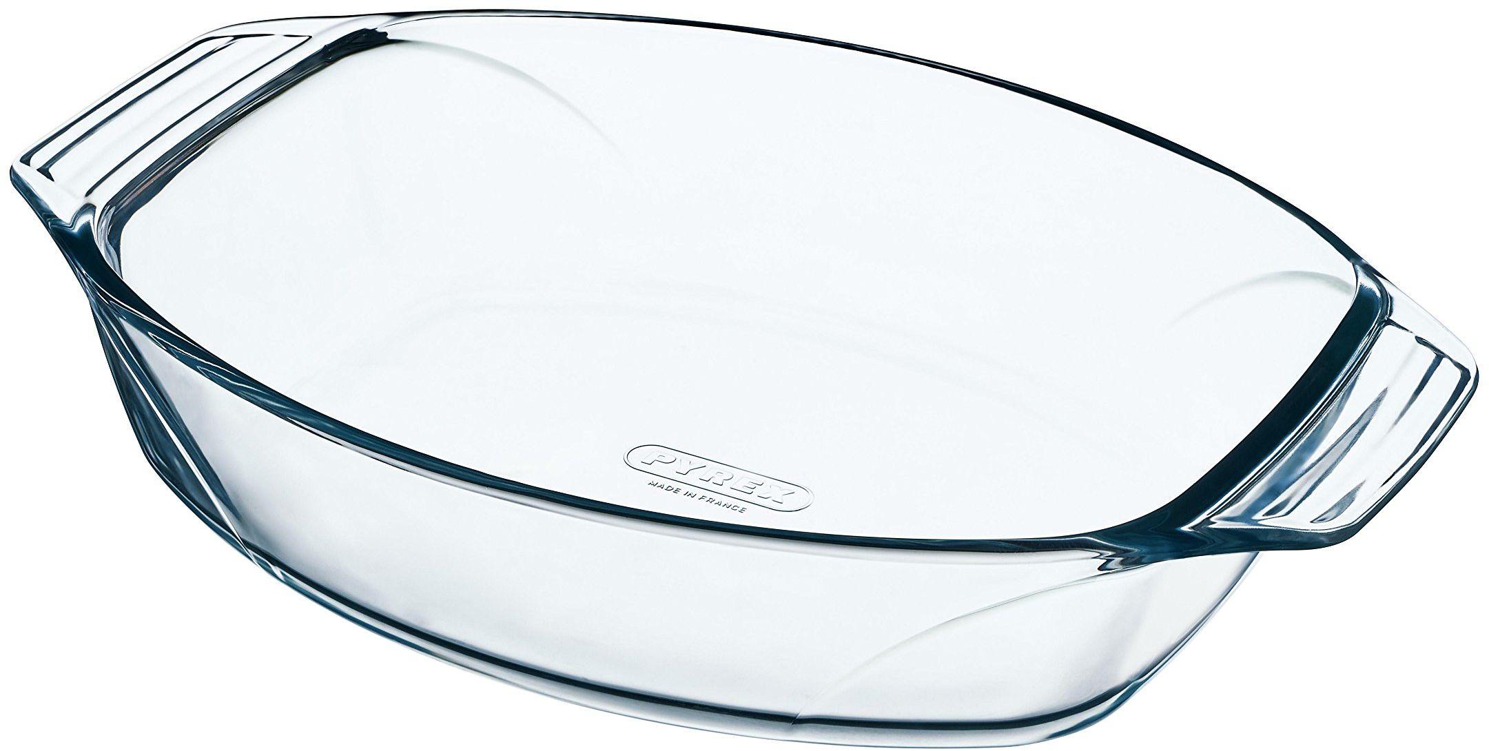 Pyrex Optymalne szkło owalne pieczenie wysoka odporność łatwy chwyt 40 x 28 cm, 3