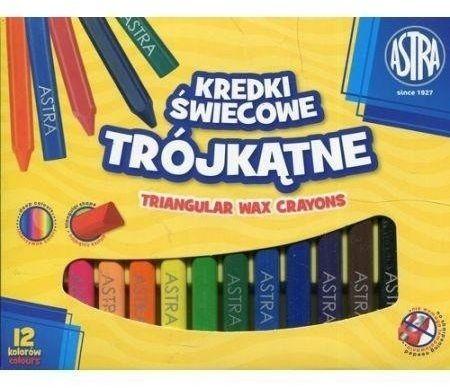 Kredki świecowe trójkątne 12 kolorów ASTRA - ASTRA papiernicze