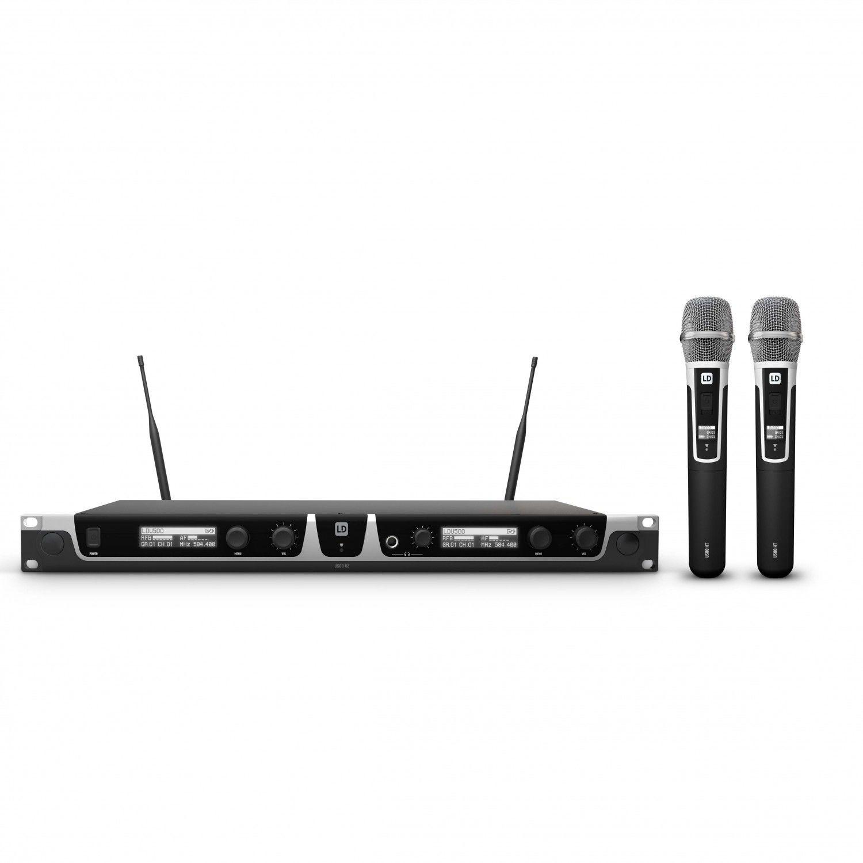 LD Systems U518 HHC 2 - Bezprzewodowy system mikrofonowy z ręcznym mikrofonem pojemnościowym x 2