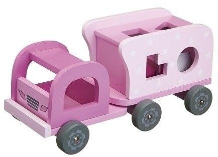 Kids Concept - Klocki Drewniane Samochód Pink