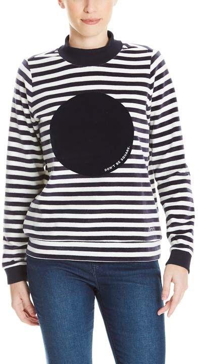 bluza BENCH - Striped Nikki Jumper Stripe Snow White+Essentially (P1156)