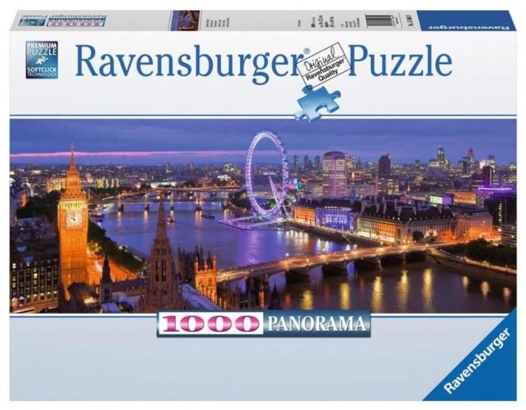 Puzzle 1000 Panorama Londyn nocą - Ravensburger