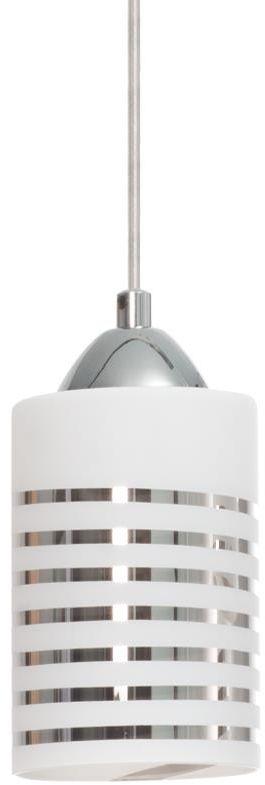 Lampex Nila 1 183/1 lampa wisząca połączenie metalu i szkła klosz owalny E27 1 40W 10cm