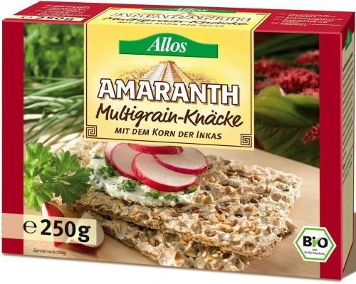 Pieczywo chrupkie amarantusowe wielozbożowe BIO 250g Allos