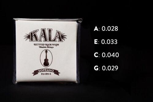 Kala Rectified Black Nylon, Soprano struny do ukulele