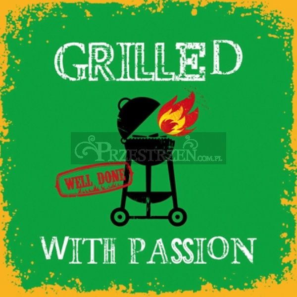 SERWETKI PAPIEROWE - Grilled with Passion GREEN