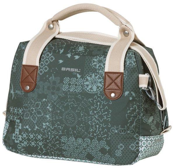 BASIL torba / sakwa na kierownicę boheme city bag kf 8L forest green B-18014,8715019180149