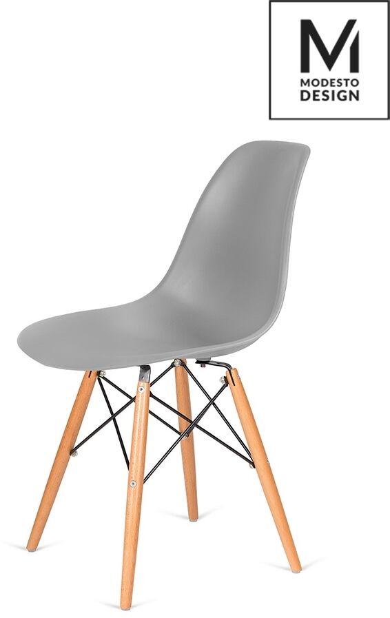 MODESTO krzesło DSW szare - podstawa bukowa C1021B.GREY - King Home  Sprawdź kupony i rabaty w koszyku  Zamów tel  533-810-034