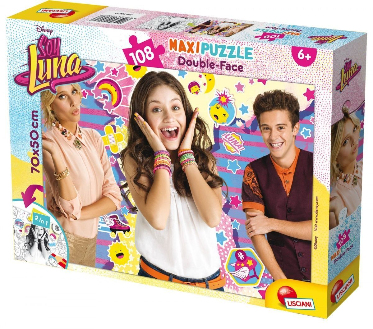 Lisciani spiele 60627  Puzzle DF Supermaxi 108 Soy Luna Friends & Skate