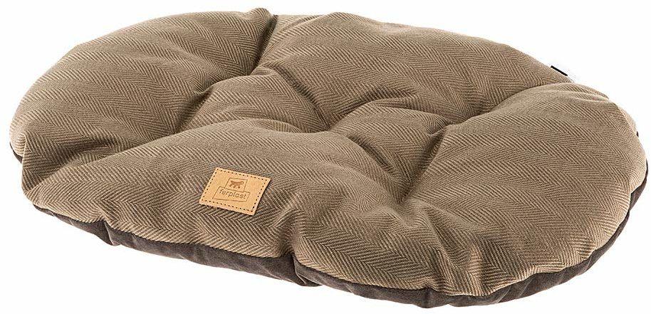 Poduszka dla psów i kotów STUART 78/8, dwustronna, z tweed, miękkiego aksamitu, nadaje się do prania, brązowa