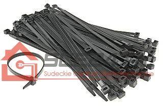 Opaski zaciskowe 3,5 x 300 czarne opak.100szt