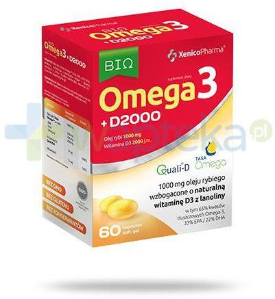 XenicoPharma Bio Omega3 + D2000 60 kapsułek