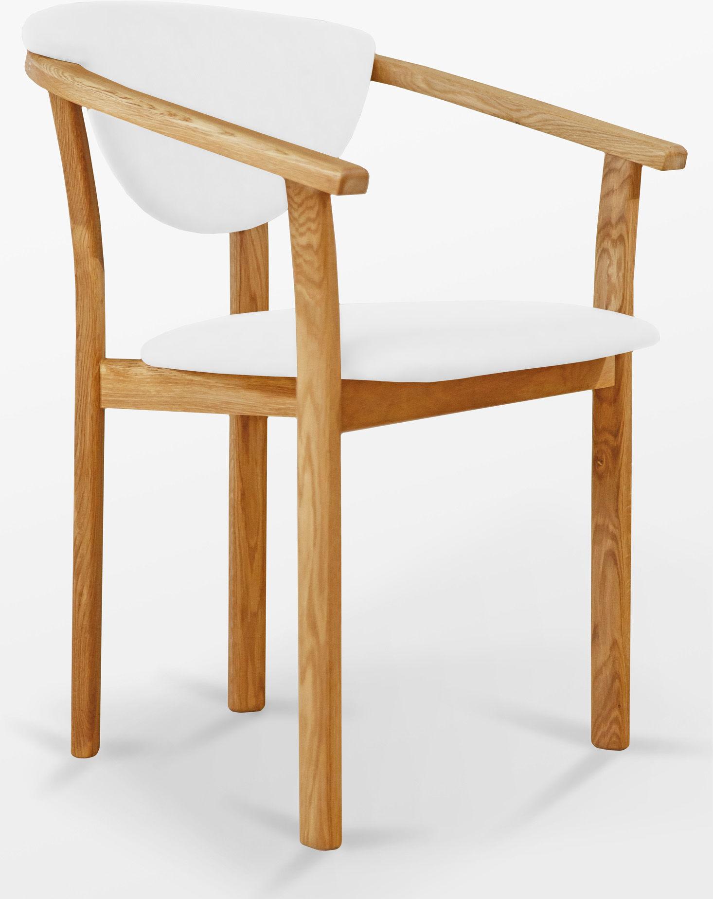 Fotel dębowy B skórzany