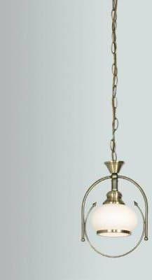 Globo lampa wisząca Nostalgika 6900 patyna biały klosz