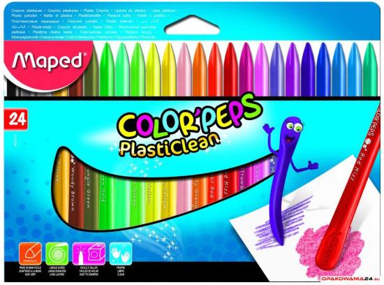 Kredki plastikowe Colorpeps 24 kolorów 862013 MAPED