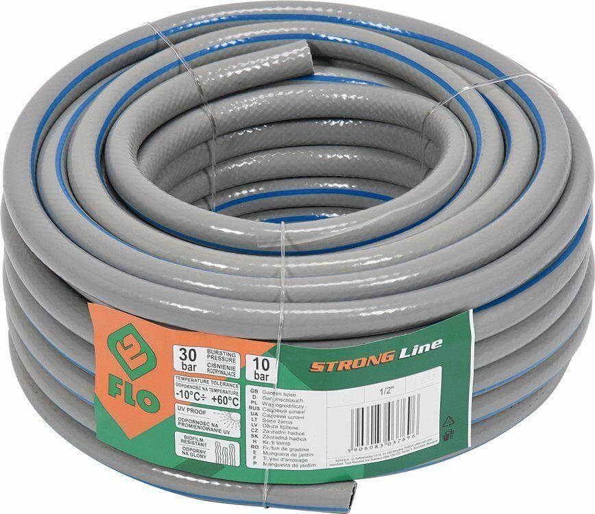 Wąż ogrodniczy ogrodowy Strong Line 1/2cal. 20m o zwiększonej wytrzymałości Flo 89290 - ZYSKAJ RABAT 30 ZŁ