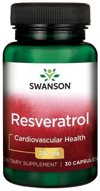 SWANSON Resveratrol (Resweratrol) 250mg - 30 kapsułek