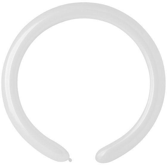 Balony rurki modeliny 10 sztuk białe 160Q-biały
