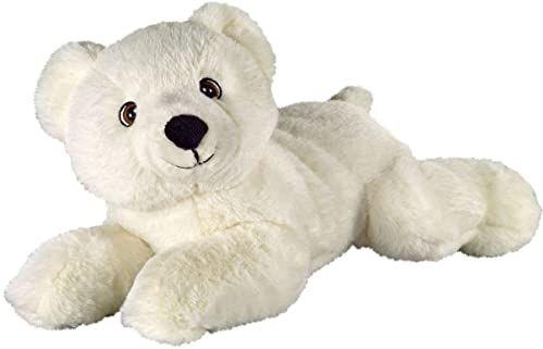 Bauer Spielwaren 12939 I Like My Planet niedźwiedź polarny pluszak z materiału pochodzącego z recyklingu, biały