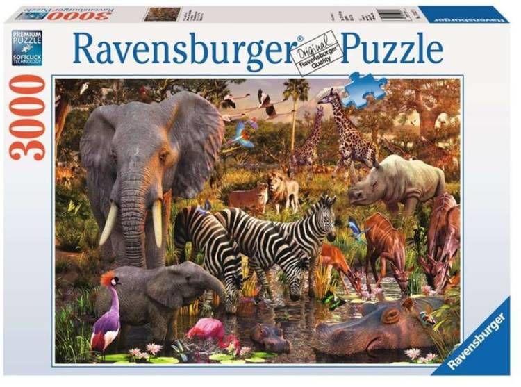 Puzzle 3000 Zwierzęta Afryki - Ravensburger