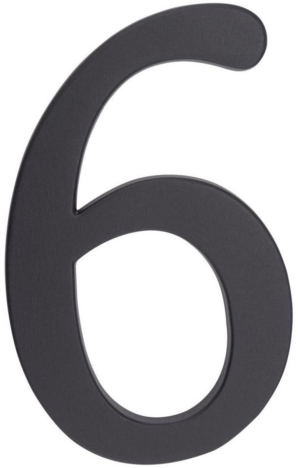 Cyfra 6/9 wys. 19 cm aluminiowa grafitowa