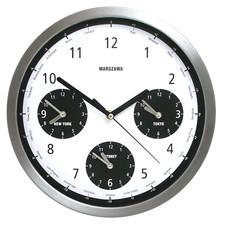 Zegar metalowy Strefy Czasowe