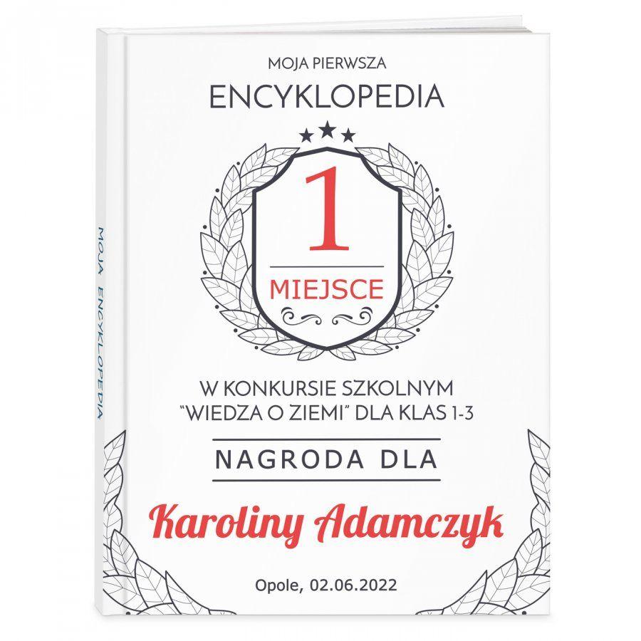 Encyklopedia z nadrukiem dla dziewczynki jako nagroda