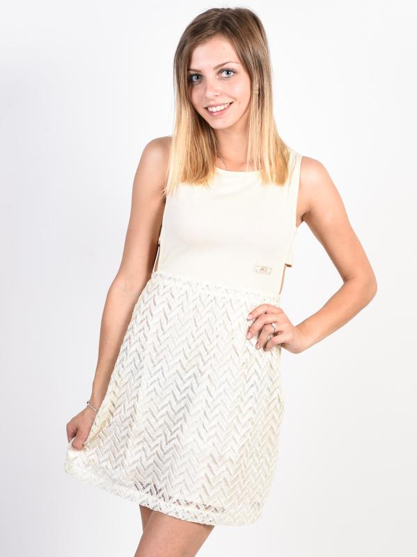 Picture Eva off white krótkie sukienki - M