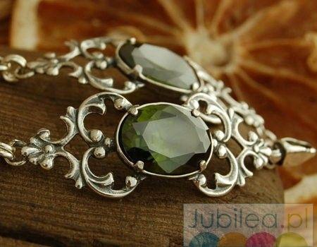 Fauno - srebrna bransoletka z oliwinem