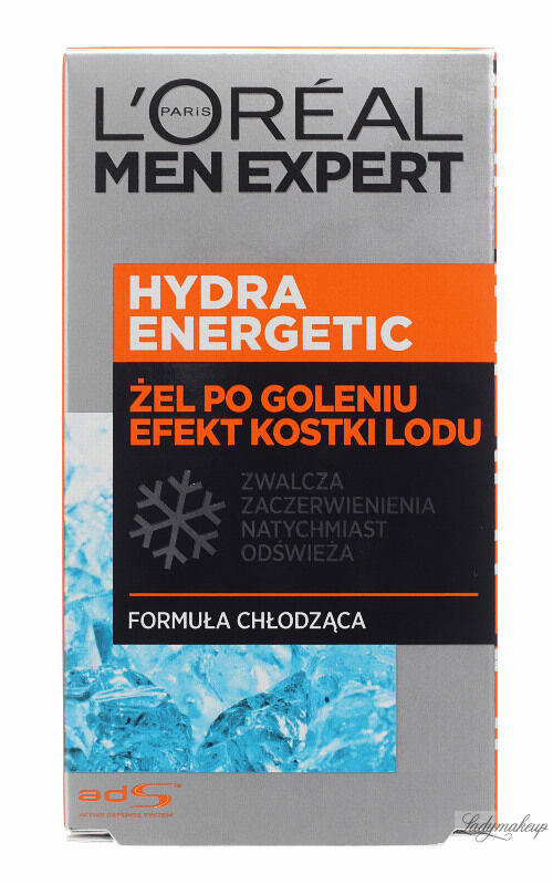 L''Oréal - MEN EXPERT - HYDRA ENERGETIC ICE EFFECT AFTER SHAVE GEL - Żel po goleniu z efektem kostki lodu - 100 ml