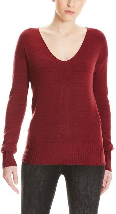 sweter BENCH - Basic V-Neck Jumper Cabernet (RD11343)