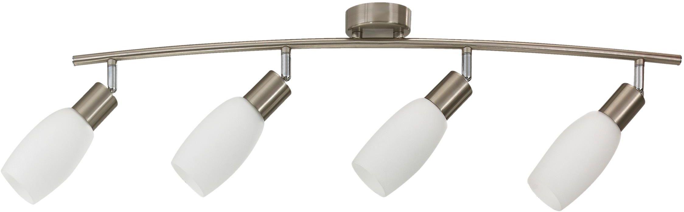 Lampex Almeda 4 289/4 listwa oświetleniowa nowoczesna szklane klosze 4x40W E14 75cm