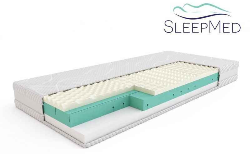SLEEPMED COMFORT - materac termoelastyczny, piankowy, Rozmiar - 90x200 NAJLEPSZA CENA, DARMOWA DOSTAWA