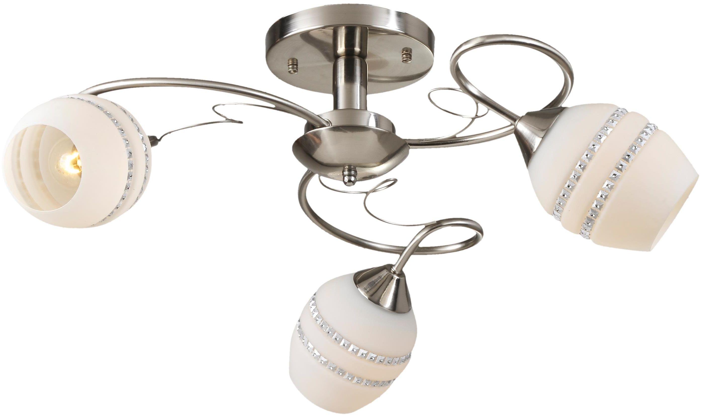 Lampex Beja 3 293/3 plafon lampa sufitowa klasyczna białe szklane klosze 3x60W E27 62cm