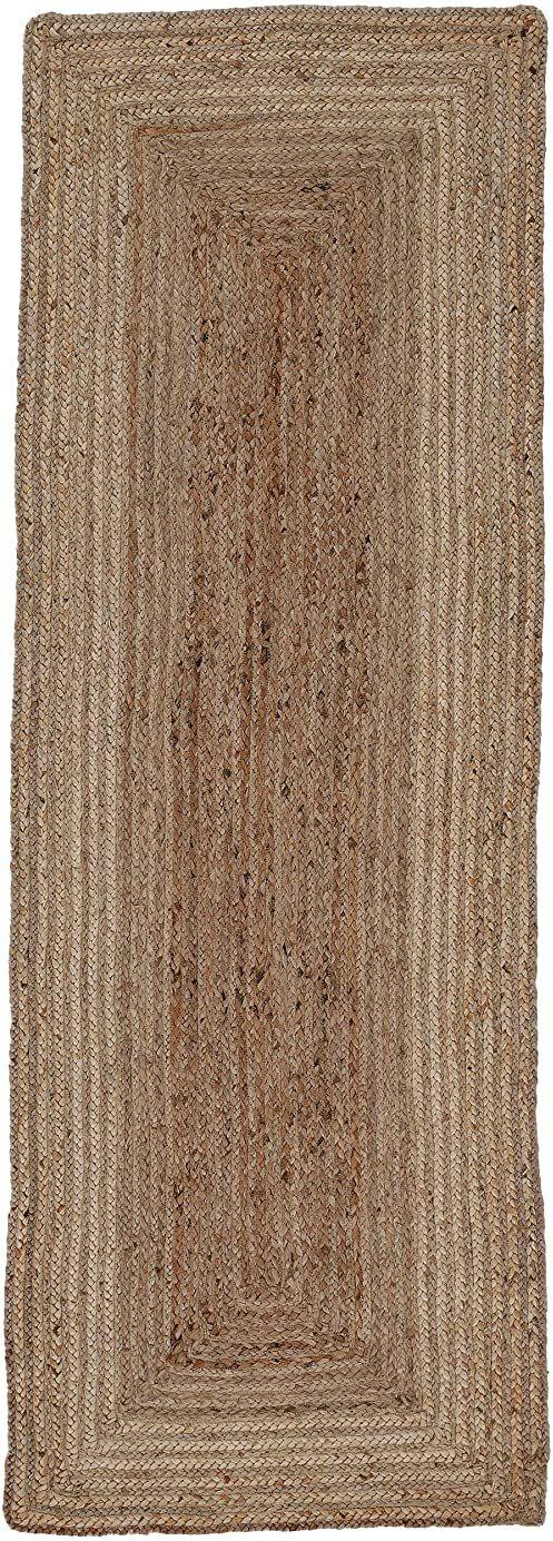 carpetfine Dywan z juty, 100% juta, beżowy, 60 x 180 cm