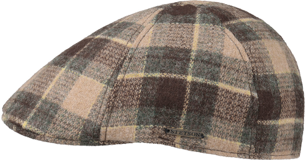 Czapka Texas Woolrich Check Gatsby by Stetson, brązowy, L (58-59 cm)