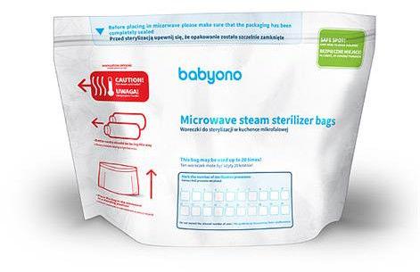 BabyOno Woreczki do sterylizacji w kuchence mikrofalowej 5 szt.